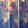 Tiffiny Hall shows off her quirky style in wrap dress