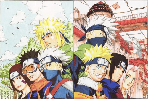 Team minato team kakashi naruto mangas et dessins - Dessin kakashi ...
