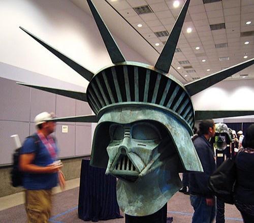 Star Wars Darth Vader Statue of Liberty