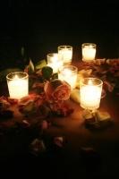 bougies-roses