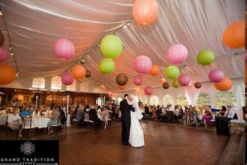 lanterne-papier-mariage-vert-rose-orange