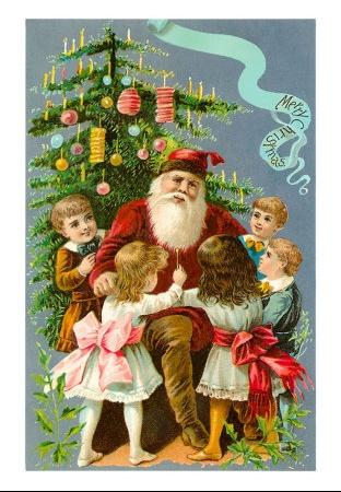 Pere Noël + enfants