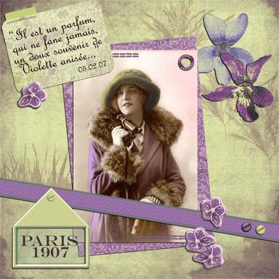 carte postale violettes