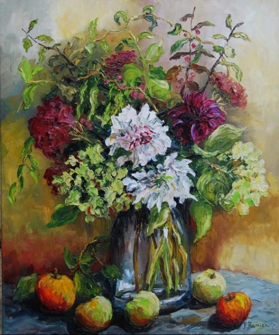 Bouquet d'automne + pommes