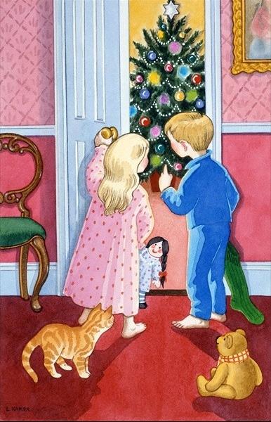 enfants matin de Noël