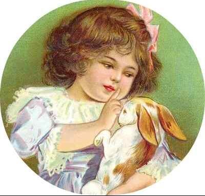 Petite fille + lapin
