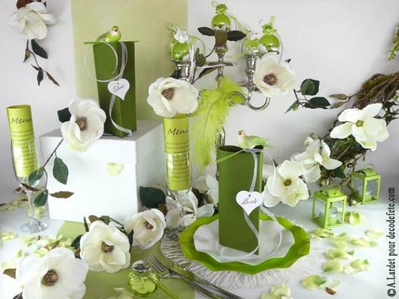 mariage vert et ivoire HELP - Salles et décorations - Mariage ...
