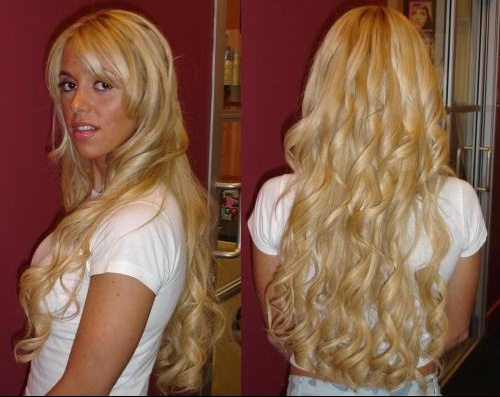 Permanente cheveux long double enroulage