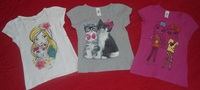 lot tee shirts 8 ans manches courtes-vue2