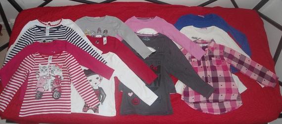lot tee shirts 8 ans manches longues