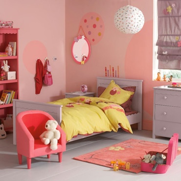 Ambiance rose orang chambre fille princesse aina photos club doctissimo for Ambiance chambre fille