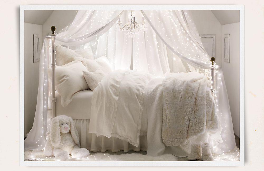 un ciel de lit lumineux et féerique  Chambre fille  PrincesseAina  Pho -> Lit Lumineux