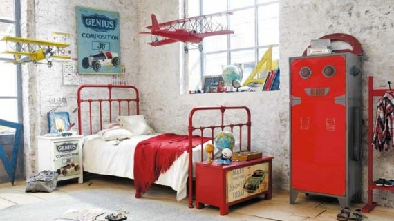 Suspension avion croquer chambre gar on princesse - Chambre garcon avion ...