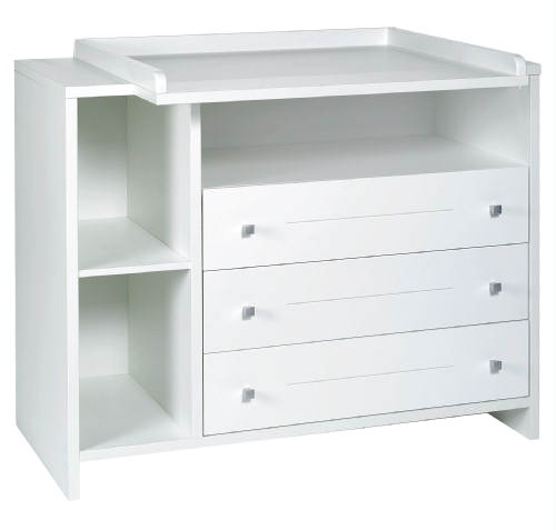 Commode a langer blanche ikea for Table blanche ikea