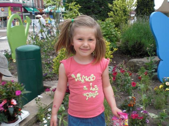 Rachel au marché aux fleurs