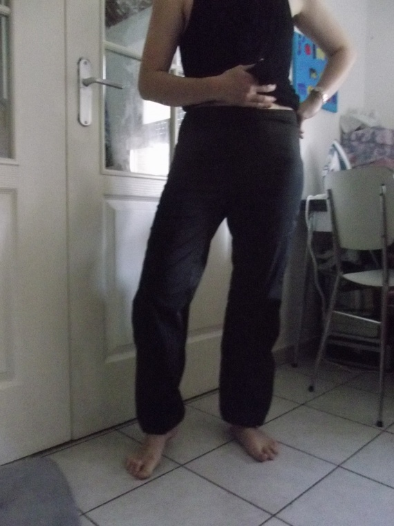 pantalon bouffant profil