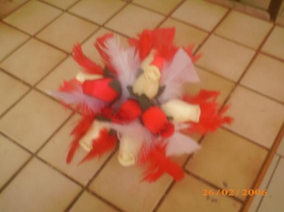 mes bouquet vus du dessus