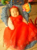 ma princesse dans sa robe !