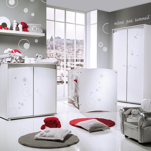 chambre gris et blanc (touche de rouge) vos avis svp - Chambre de ...