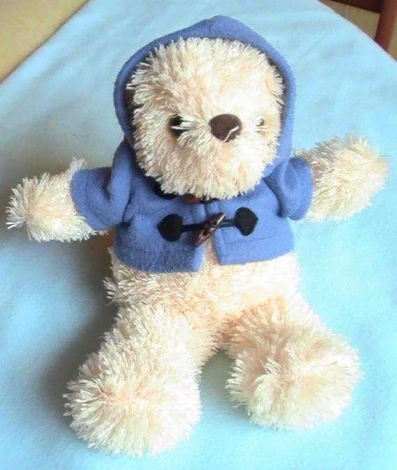 Ours habill duffle coat bleu friends and more 10 frais de port divers doudous - Frais de port mon album photo ...