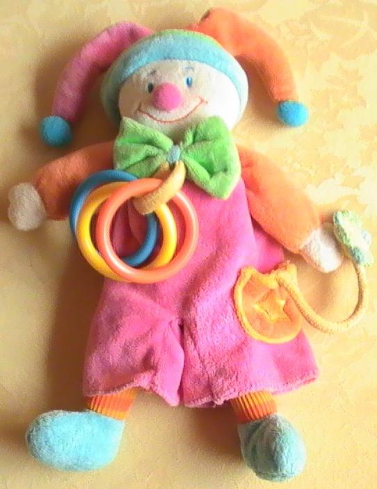 Clown d 39 veil arlequin jollybaby 7 frais de port doudous jollybaby nattou - Frais de port mon album photo ...
