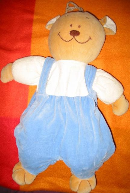 Ours bleu blanc et marron porte pyjama noukies 4 frais de port doudous noukies - Frais de port mon album photo ...