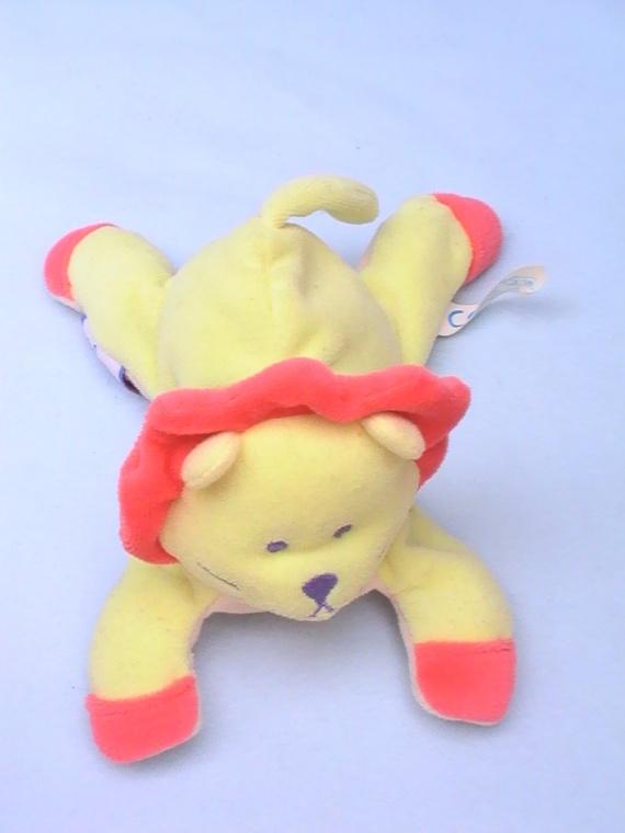 Lion jaune et orange marque b b confort 6 frais de port doudous b b confort - Frais de port mon album photo ...