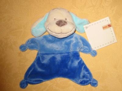Nicotoy doudou chien plat bleu neuf avec l 39 tiquette 7 euros pi ce frais de port doudous - Frais de port mon album photo ...