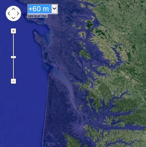 simulateurs de montée du niveau de la mer