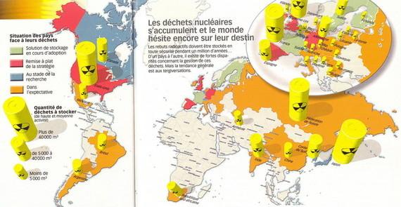 30,6 millions de mètres cube de déchets nucléaires dans le monde en 2008 dont 3/4 créés par les USA