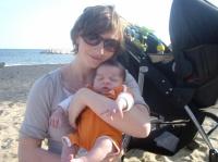 lui et moi a la plage