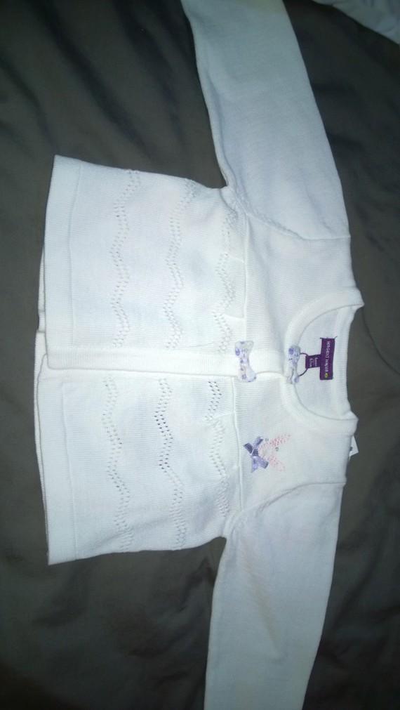 Veste blanche 6 mois