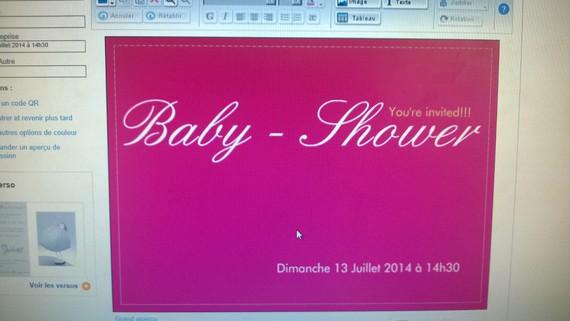 invitation baby shower recto