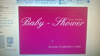 invitation baby shower recto