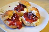 scones crème et confiture