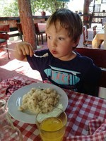 Split risotto crevettes
