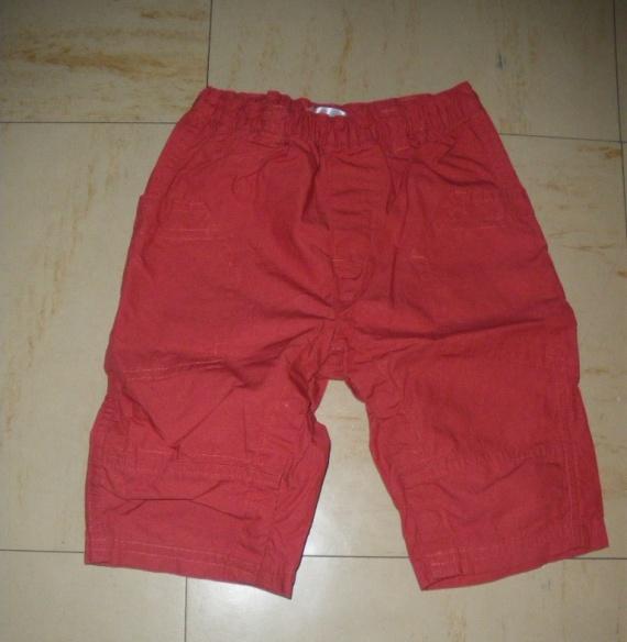6mois pantalon fin rouge