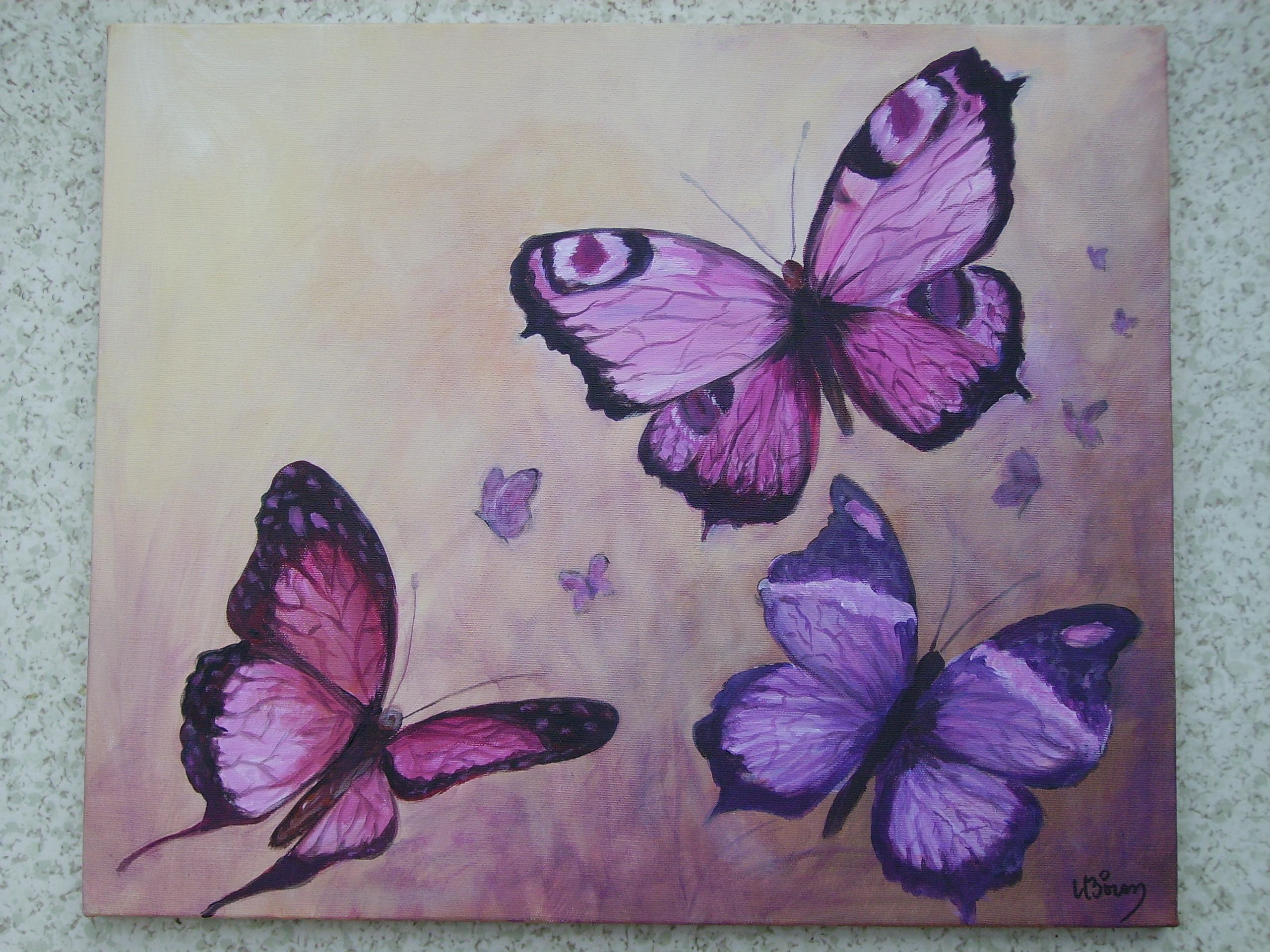 peindre un papillon. Black Bedroom Furniture Sets. Home Design Ideas