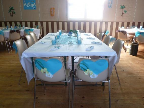Table repas des mariés