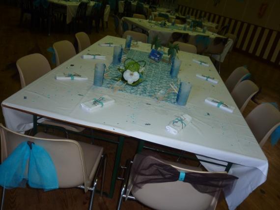 Détail centre de table + déco