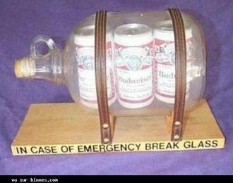 en cas durgence brisez le verre!