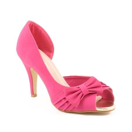 chaussure fushia qui sera customis - Chaussure Fushia Mariage