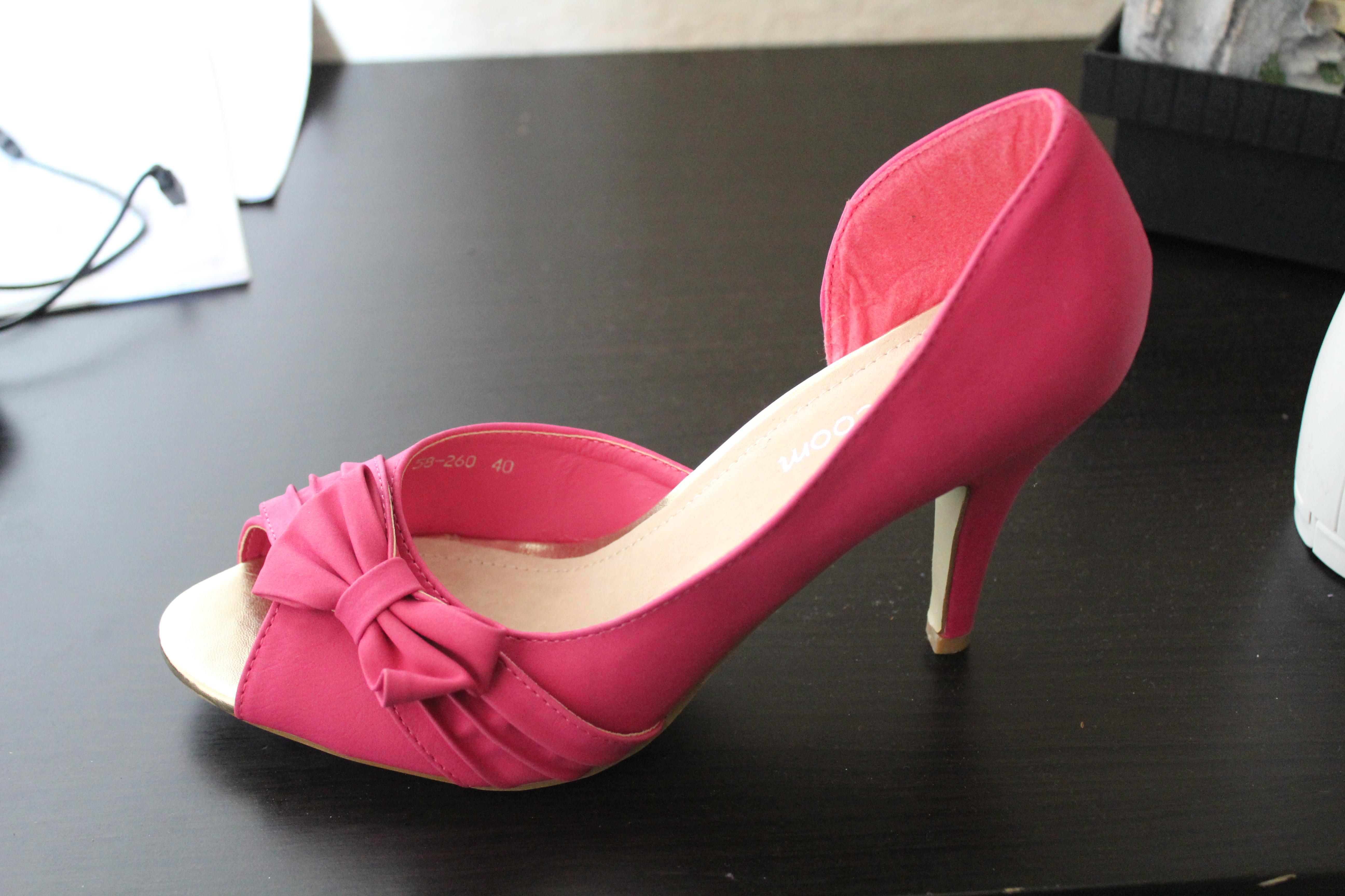 chaussures fushia petit talon