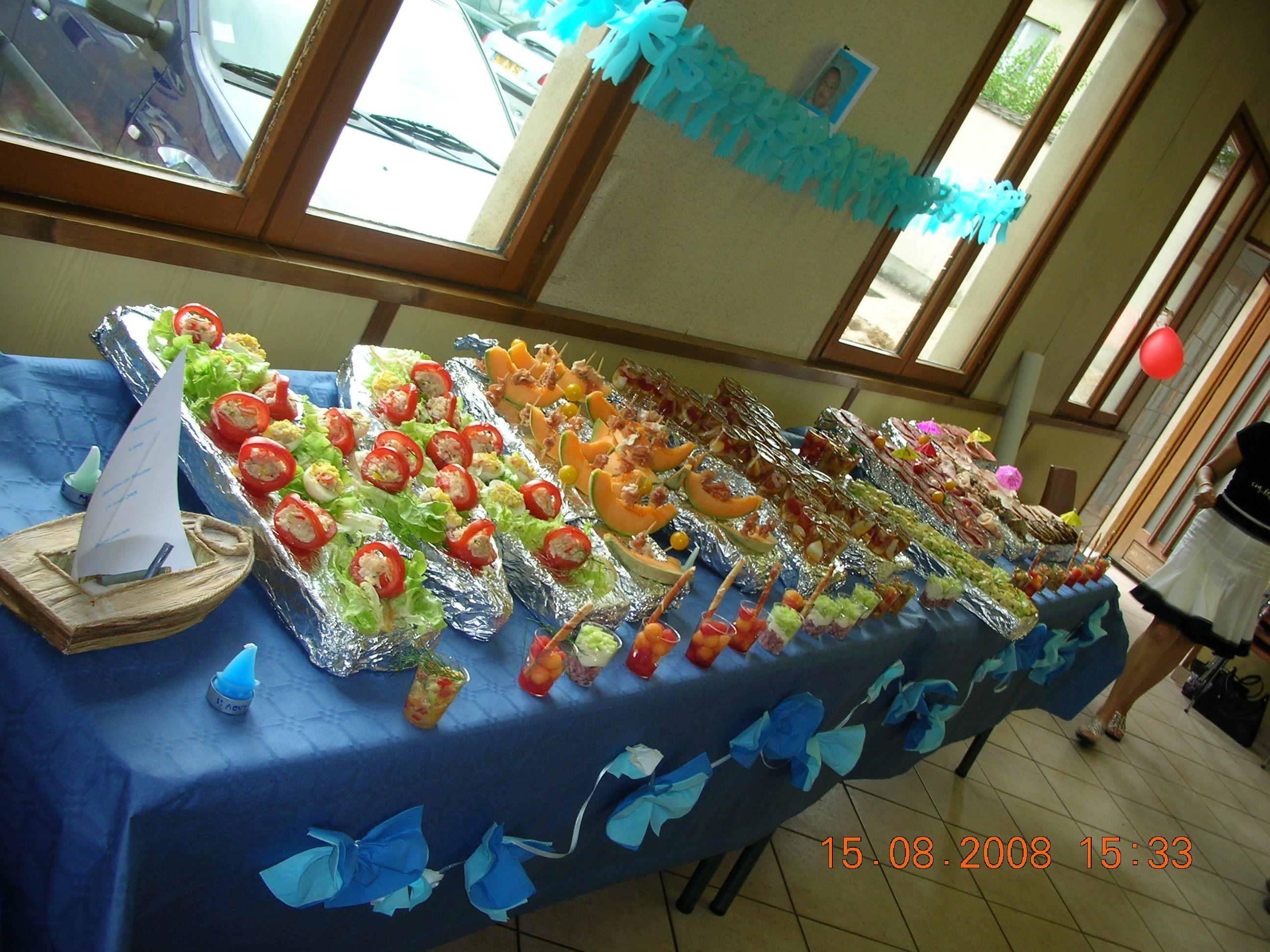 Luxury buffet anniversaire pas cher pictures for Idee repas convivial pas cher