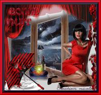 en rouge et noir creation nicole