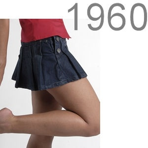 mini-jupe- 1960