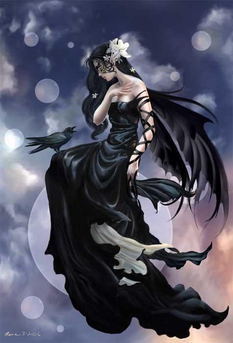 la femme corbeau