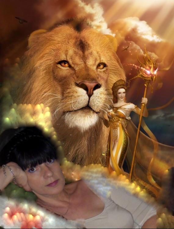 LA FEMME ET LE LION NICOLE