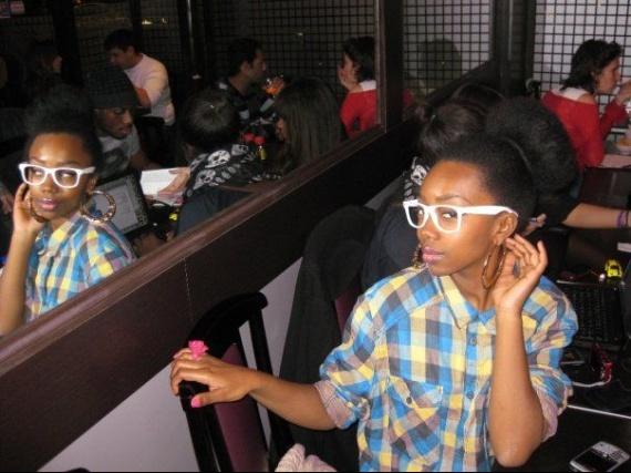 Nerd black girl