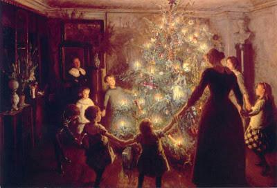 Viggo johansen Autour de l'arbre de Noel 1891